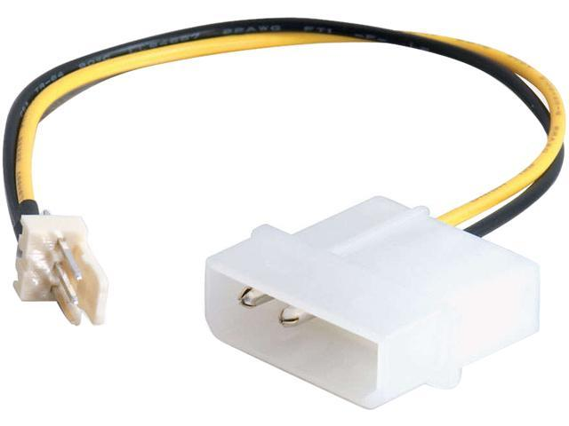 6in 3-pin Fan to 4-pin Power Adapter Cable