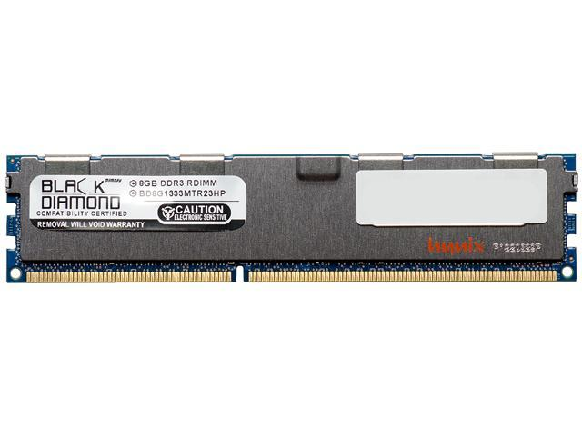 Black Diamond Memory 8GB 240-Pin DDR3 SDRAM DDR3 1333 (PC3 10600) ECC Registered System Specific Memory Model BD8G1333MTR23HPA