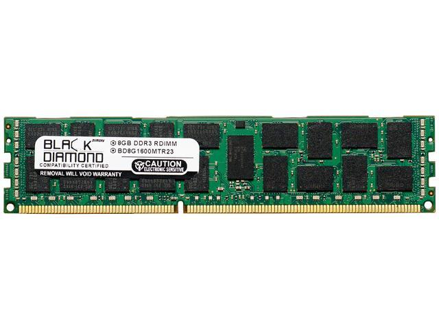 Black Diamond Memory 8GB 240-Pin DDR3 SDRAM DDR3 1866 (PC3 14900) ECC Registered System Specific Memory Model BD8G1866MTR23DE