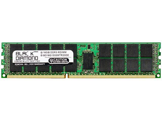 Black Diamond Memory 16GB 240-Pin DDR3 SDRAM DDR3 1333 (PC3 10600) ECC Registered System Specific Memory Model BD16G1333MTR23DE