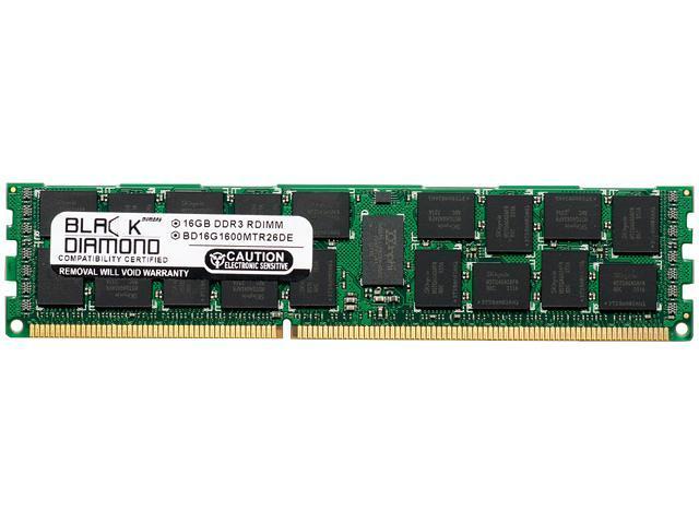 Black Diamond Memory 16GB 240-Pin DDR3 SDRAM DDR3 1600 (PC3 12800) ECC Registered System Specific Memory Model BD16G1600MTR26DE