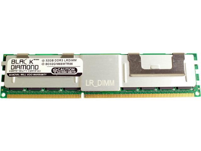 Black Diamond Memory 32GB 240-Pin DDR3 SDRAM DDR3 1866 (PC3 14900) ECC Load Reduced System Specific Memory Model BD32G1866MTR96DE