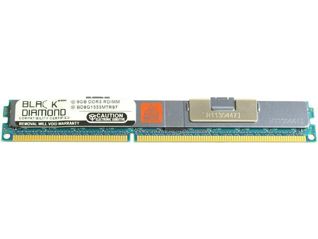 Black Diamond Memory VLP 8GB 240-Pin DDR3 SDRAM DDR3 1333 (PC3 10600) ECC Registered System Specific Memory Model BD8G1333MTR97IB