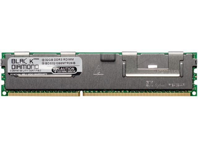 Black Diamond Memory 32GB 240-Pin DDR3 SDRAM DDR3 1066 (PC3 8500) ECC Registered System Specific Memory Model BD32G1066MTR26IB