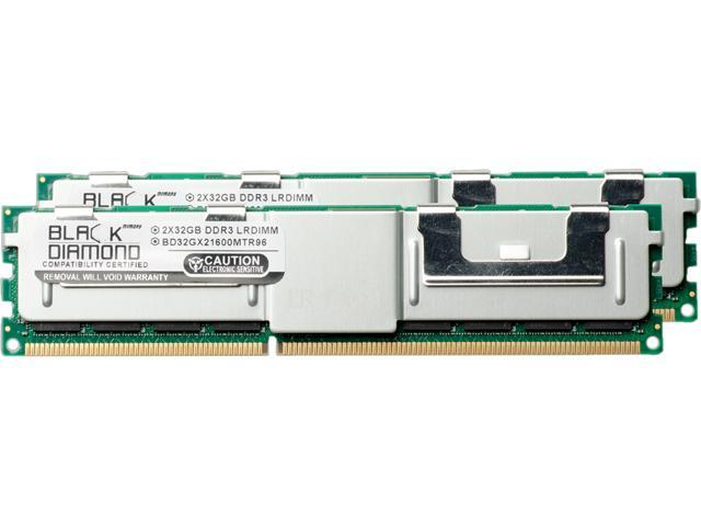 Black Diamond Memory 64GB (2 x 32GB) 240-Pin DDR2 SDRAM DDR3 1866 (PC3 14900) ECC Load Reduced System Specific Memory Model BD32GX21866MTR96DE