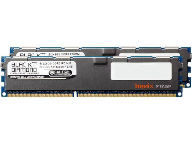 Black Diamond Memory 16GB (2 x 8GB) 240-Pin DDR3 SDRAM DDR3 1333 (PC3 10600) ECC Registered System Specific Memory Model BD8GX21333MTR23IB