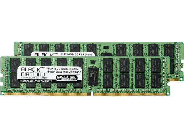 Black Diamond Memory 32GB (2 x 16GB) 288-Pin DDR4 SDRAM DDR4 2133 (PC4 17000) ECC Registered System Specific Memory Model BD16GX22133MQR26DE