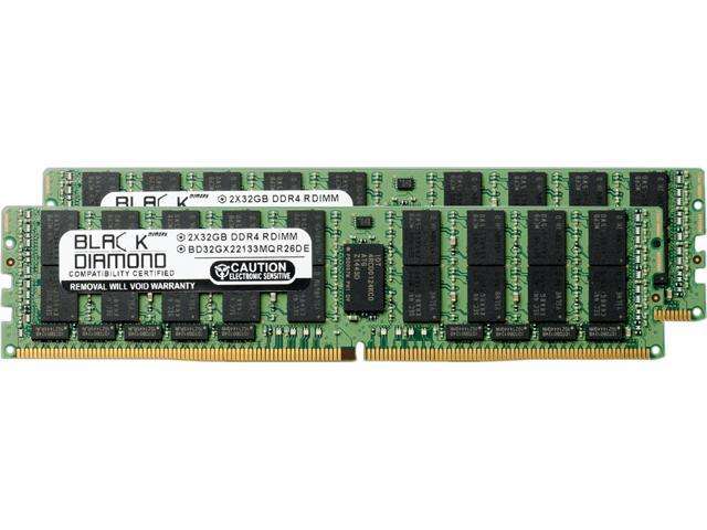 Black Diamond Memory 64GB (2 x 32GB) 288-Pin DDR4 SDRAM DDR4 2133 (PC4 17000) ECC Registered System Specific Memory Model BD32GX22133MQR26DE