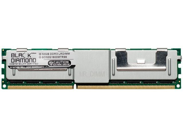 Black Diamond Memory 32GB 240-Pin DDR3 SDRAM ECC Load Reduced DDR3 1600 (PC3 12800) Server Memory Model BD32G1600MTR96