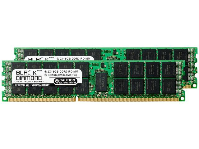 Black Diamond Memory 32GB (2 x 16GB) 240-Pin DDR3 SDRAM ECC Registered DDR3 1333 (PC3 10600) Server Memory Model BD16GX21333MTR23