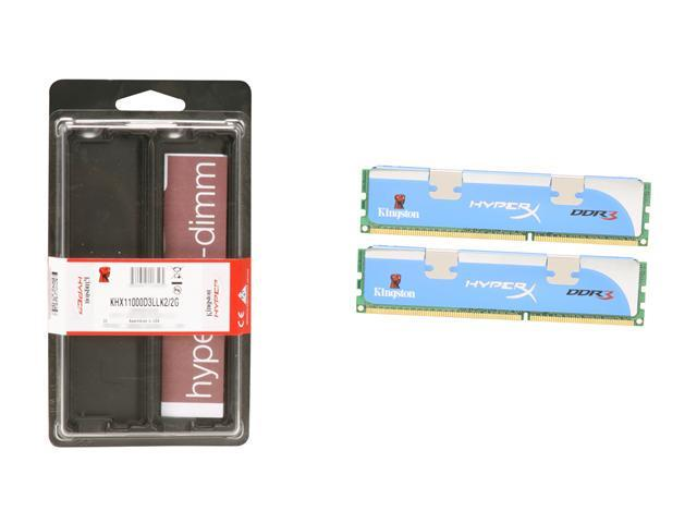 Kingston HyperX 2GB (2 x 1GB) 240-Pin DDR3 SDRAM DDR3 1375 (PC3 11000) Dual Channel Kit Desktop Memory Model KHX11000D3LLK2/2G