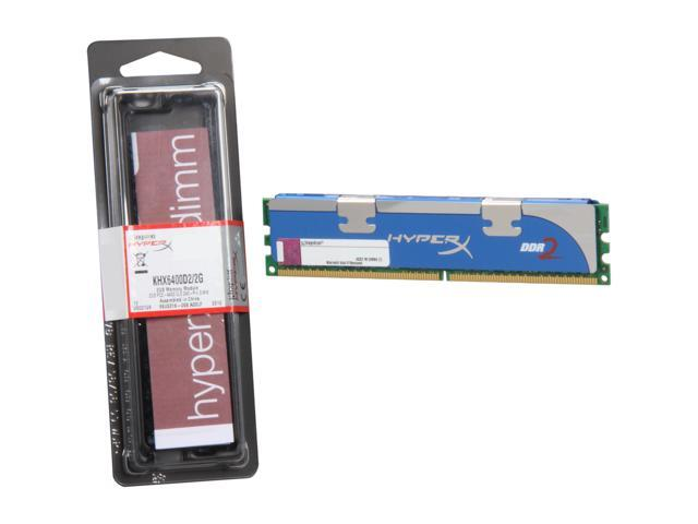 Kingston HyperX 2GB 240-Pin DDR2 SDRAM DDR2 800 (PC2 6400) Desktop Memory Model KHX6400D2/2G