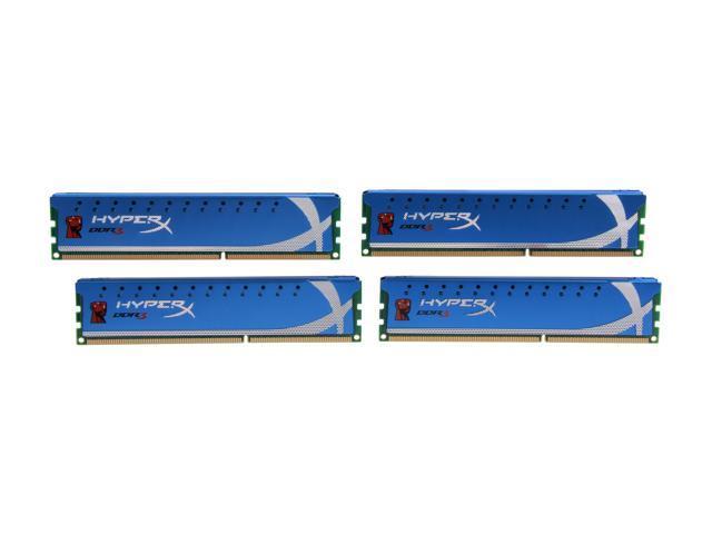 HyperX 8GB (4 x 2GB) 240-Pin DDR3 SDRAM DDR3 1866 Desktop Memory Model KHX1866C9D3K4/8GX