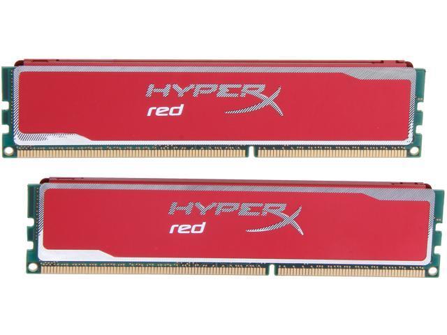 HyperX XMP Blu Red Series 8GB (2 x 4GB) 240-Pin DDR3 SDRAM DDR3 1600 Desktop Memory Model KHX16C9B1RK2/8X