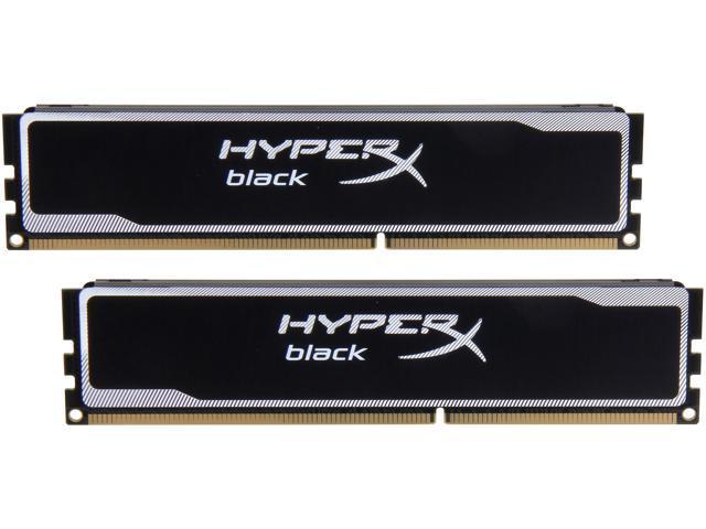 HyperX Black 8GB (2 x 4GB) 240-Pin DDR3 SDRAM DDR3 1600 (PC3 12800) Desktop Memory Model KHX16C9B1BK2/8X