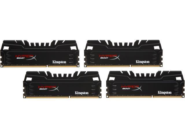 HyperX Beast 32GB (4 x 8GB) 240-Pin DDR3 SDRAM DDR3 1600 (PC3 12800) Desktop Memory Model KHX16C9T3K4/32X