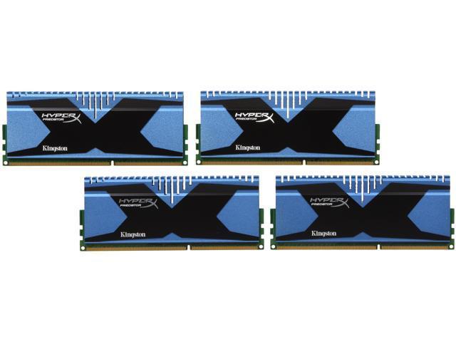 HyperX Predator Series 16GB (4 x 4GB) 240-Pin DDR3 SDRAM DDR3 1866 Desktop Memory Model KHX18C10T2K4/16