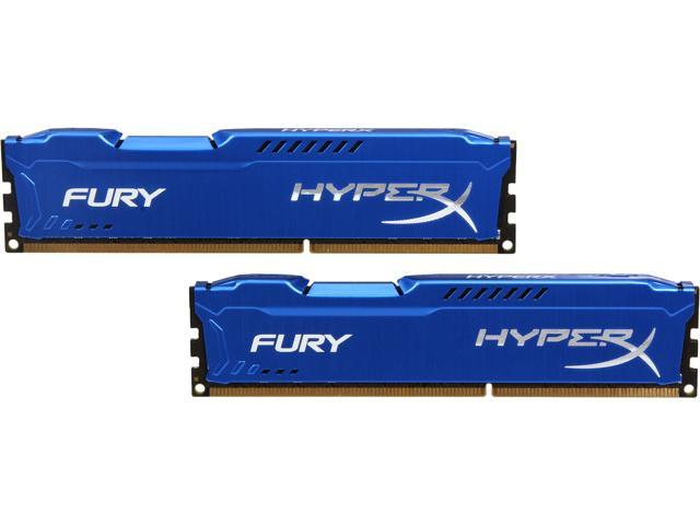 HyperX FURY 16GB (2 x 8GB) 240-Pin DDR3 SDRAM DDR3 1866 (PC3 14900) Desktop Memory Model HX318C10FK2/16