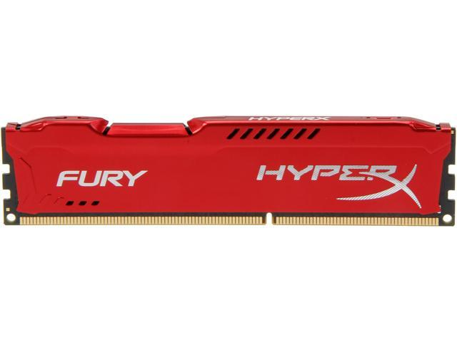 HyperX Fury Red Series 8GB 240-Pin DDR3 SDRAM DDR3 1866 Desktop Memory Model HX318C10FR/8