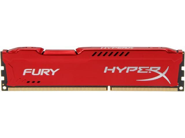 HyperX Fury Red Series 8GB 240-Pin DDR3 SDRAM DDR3 1866 Desktop Memory Model HX318C10FR/8
