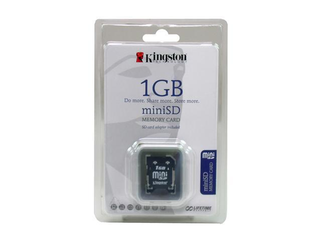 Kingston 1GB MiniSD Flash Card w/adapter Model SDM/1GB