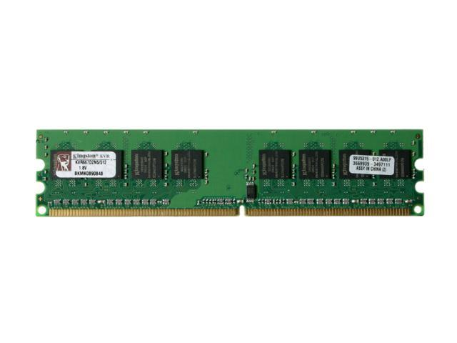 Kingston ValueRAM 512MB 240-Pin DDR2 SDRAM DDR2 667 (PC2 5300) Desktop Memory Model KVR667D2N5/512