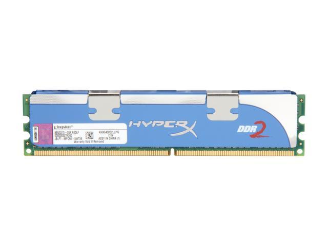 Kingston HyperX 1GB 240-Pin DDR2 SDRAM DDR2 800 (PC2 6400) Desktop Memory Model KHX6400D2LL/1G