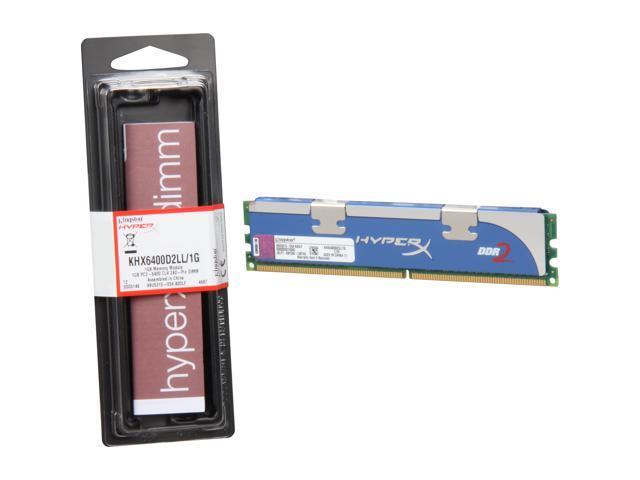 Kingston HyperX 1GB 240-Pin DDR2 SDRAM DDR2 800 (PC2 6400) Desktop Memory Model KHX6400D2LL/1G