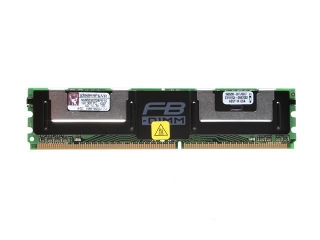 Kingston 1GB 240-Pin DDR2 FB-DIMM ECC Fully Buffered DDR2 533 (PC2 4200) Server Memory Model KVR533D2D8F4/1G