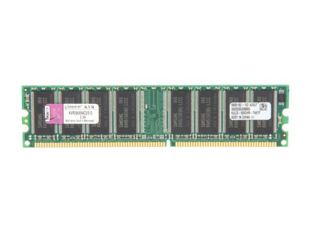 Kingston 512MB 184-Pin DDR SDRAM DDR 266 (PC 2100) Desktop Memory Model KVR266X64C2/512