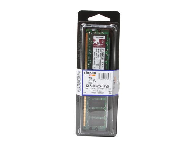 Kingston ValueRAM 2GB 240-Pin DDR2 SDRAM ECC Registered DDR2 400 (PC2 3200) Server Memory Model KVR400D2S4R3/2G