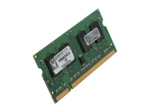Kingston 1GB 200-Pin DDR2 SO-DIMM DDR2 800 (PC2 6400) Laptop Memory Model KVR800D2S5/1G