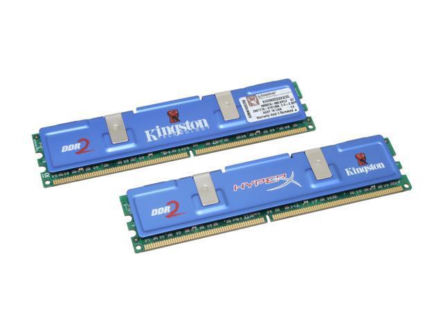 Kingston HyperX 2GB (2 x 1GB) 240-Pin DDR2 SDRAM DDR2 1200 (PC2 9600) Dual Channel Kit Desktop Memory Model KHX9600D2K2/2G