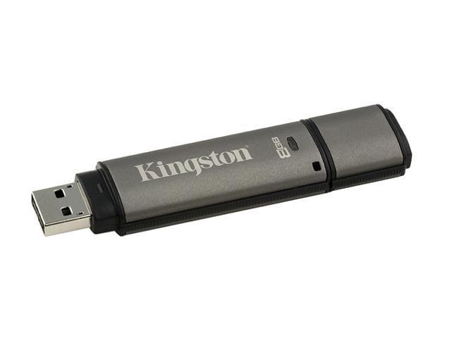 Kingston DataTraveler Secure 8GB Flash Drive (USB2.0 Portable) 256bit AES Encryption Model DTS/8GB