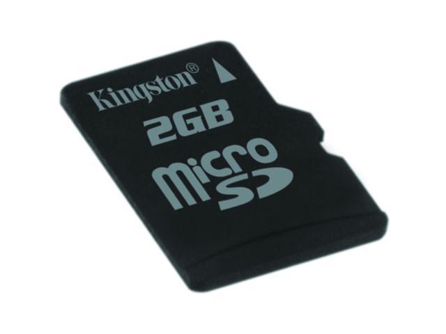 Kingston 2GB MicroSD Flash Card  w/ SD Adapter Model SDC/2GB