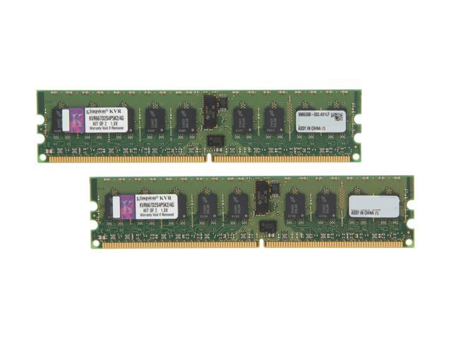 Kingston ValueRAM 4GB (2 x 2GB) 240-Pin DDR2 SDRAM ECC Registered DDR2 667 (PC2 5300) Dual Channel Kit Server Memory Model KVR667D2S4P5K2/4G