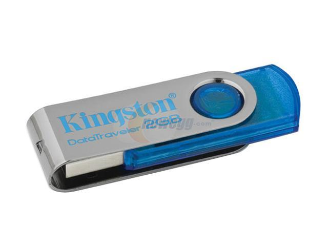 Kingston DataTraveler 101 2GB USB 2.0 Flash Drive (Cyan) Model DT101C/2GB