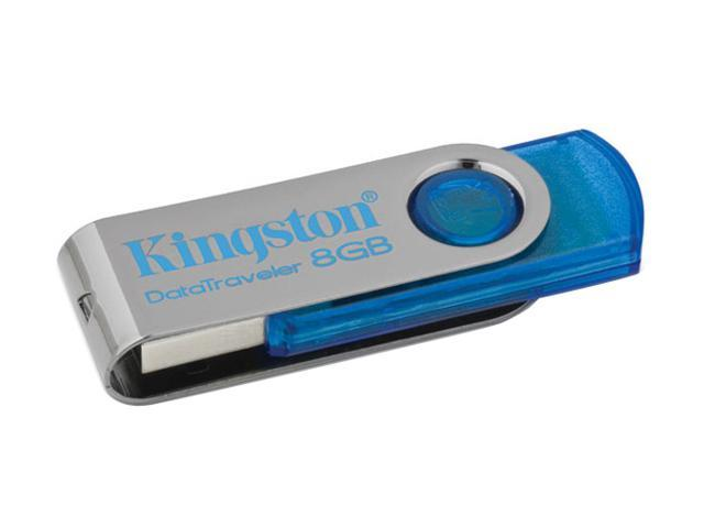 Kingston DataTraveler 101 8GB USB 2.0 Flash Drive (Cyan) Model DT101C/8GB