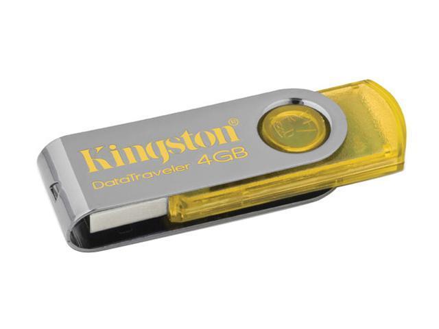 Kingston DataTraveler 101 4GB USB 2.0 Flash Drive (Yellow) Model DT101Y/4GB