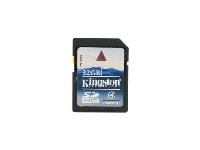 Kingston 32GB Secure Digital High-Capacity (SDHC) Flash Card Model SD4/32GB