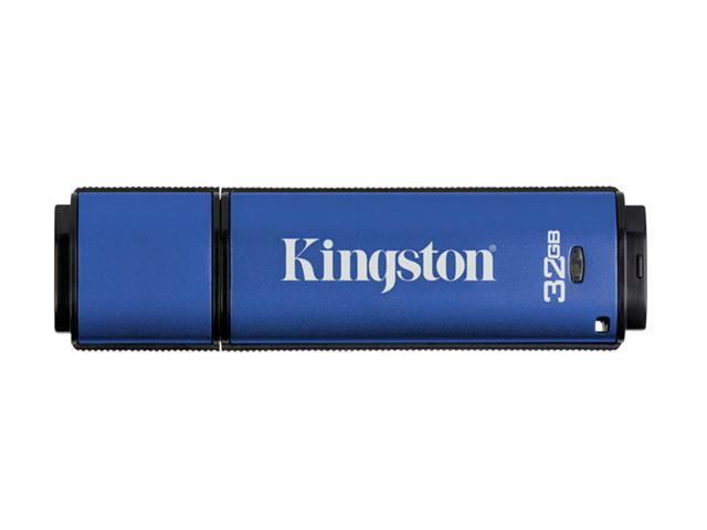 Kingston DataTraveler Vault - Privacy Edition 32GB Flash Drive (USB2.0 Portable) 256bit AES Encryption