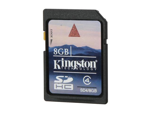 Kingston 8GB Secure Digital High-Capacity (SDHC) Flash Card Model SD4/8GBET