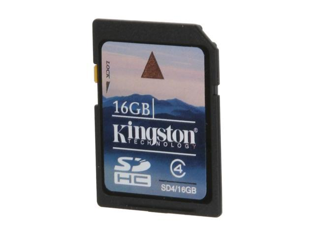 Kingston 16GB Secure Digital High-Capacity (SDHC) Flash Card Model SD4/16GBET