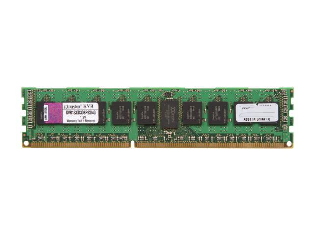 Kingston ValueRAM 4GB 240-Pin DDR3 SDRAM ECC Registered DDR3 1333 Server Memory Model KVR1333D3D8R9S/4G