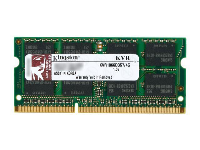 Kingston 4GB 204-Pin DDR3 SO-DIMM DDR3 1066 (PC3 8500) Laptop Memory Model KVR1066D3S7/4G