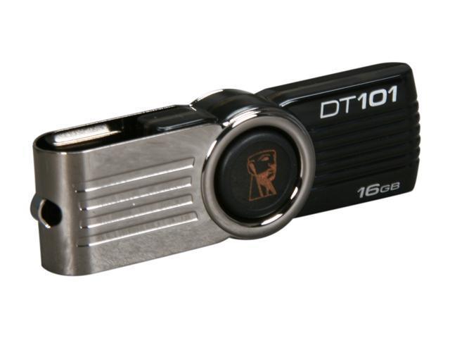 Kingston DataTraveler 101 G2 16GB USB 2.0 Flash Drive (Black) Model DT101G2/16GB