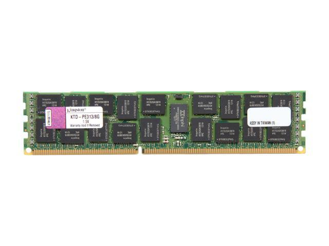 Kingston 8GB 240-Pin DDR3 SDRAM DDR3 1333 (PC3 10600) ECC Registered System Specific Memory Model KTD-PE313/8G