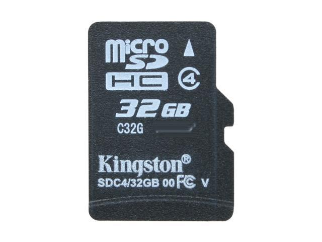 Kingston 32GB microSDHC Flash Card Model SDC4/32GBSP