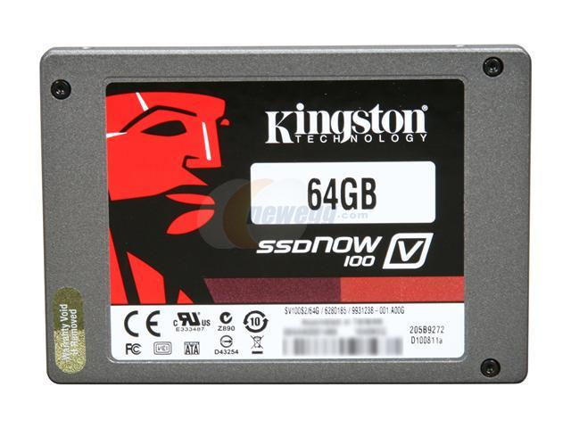 "Kingston SSDNow V100 Series SV100S2D/64GZ 2.5"" 64GB SATA II Internal / External Solid State Drive (SSD)"