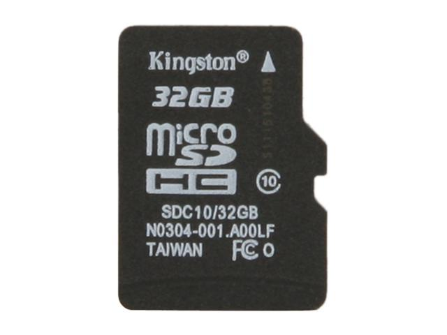 Kingston 32GB microSDHC Flash Card (Card Only) Model SDC10/32GBSP